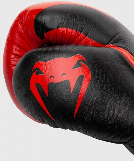 Venum Hammer Pro Boxing Gloves - With Laces - Black/Red
