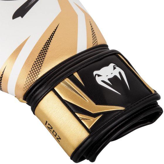 Боксерские перчатки Venum Challenger 3.0 - Белый/Золотой