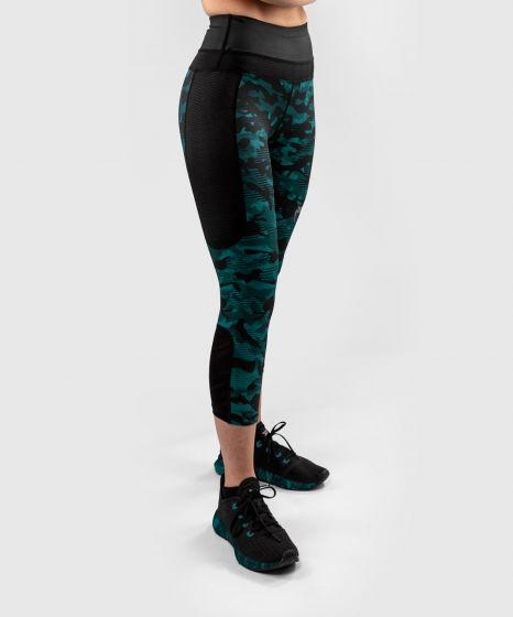 Venum Defender Crop Leggings - for women - Black/Green