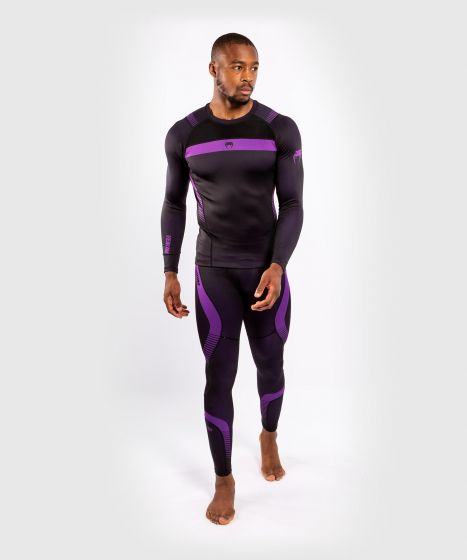 Venum NoGi 3.0 Rashguard - Long Sleeves - Black/Purple
