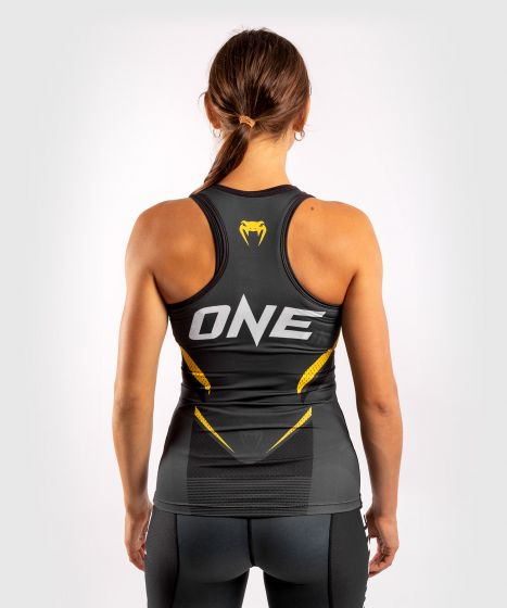 Venum ONE FC Impact Tank top - for women - Grey/Yellow