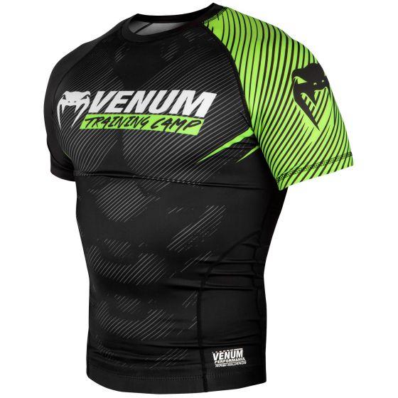Venum Training Camp 2.0 Rashguard - Short Sleeves - Black/Neo Yellow