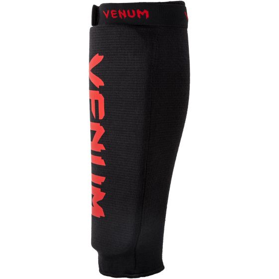 Venum Shin guards Kontact Without Foot - Black/Red