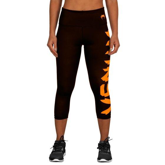 Venum Giant Cropped Leggings - Black/Orange