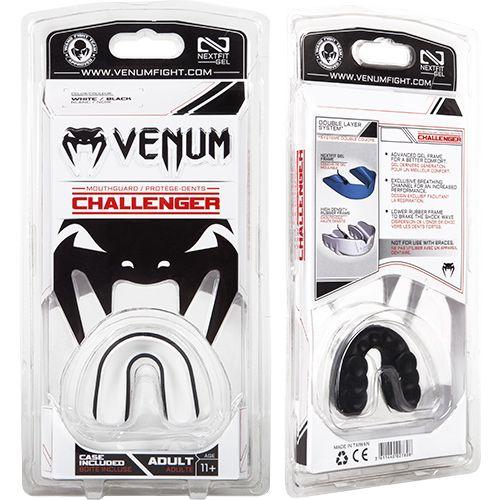 Капа боксерская Venum Challenger – черная/белая