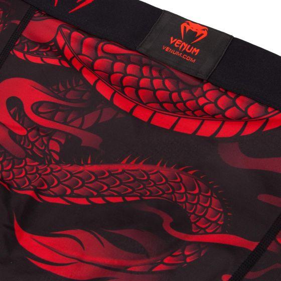 Компрессионные шорты Venum Dragon's Flight - Black/Red