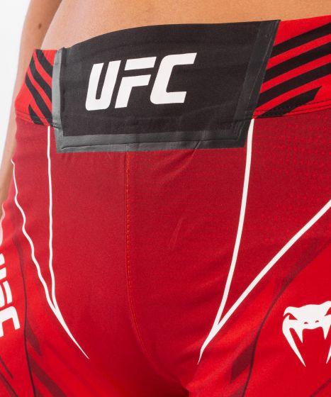 UFC 베넘 어쎈틱 파이트 나이트 여성 쇼츠 - 롱 핏 - 빨간