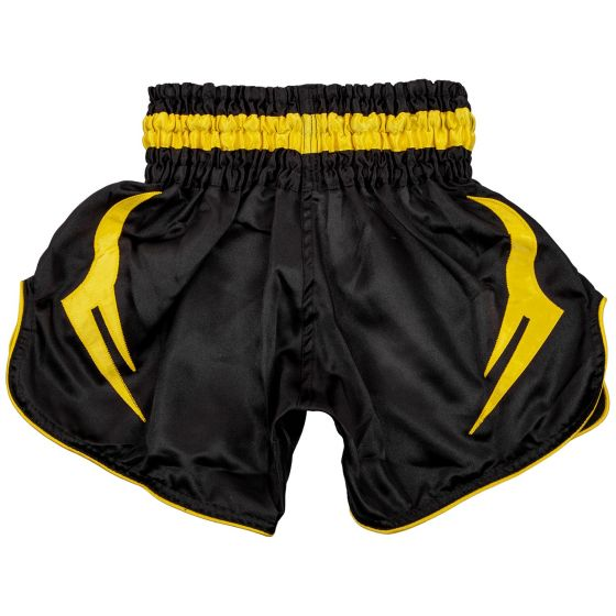 Venum Bangkok Inferno Kids Muay Thai Shorts - Black/Yellow