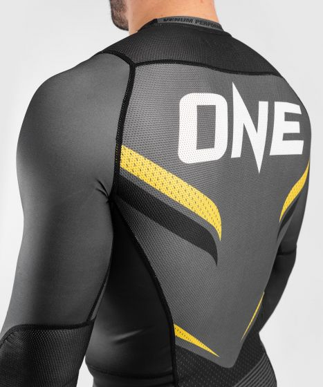Рашгард ONE FC Impact – длинный рукав - Серый/Желтый