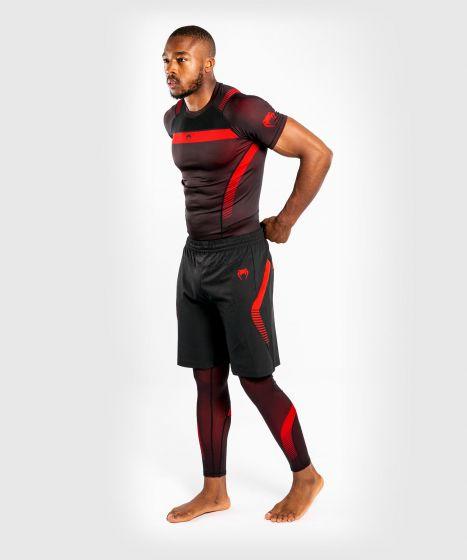 Компрессионная футболка Venum No Gi 3.0 - короткий рукав - черный/красный