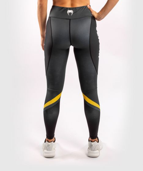 Venum ONE FC Impact Leggings - for women - Grey/Yellow