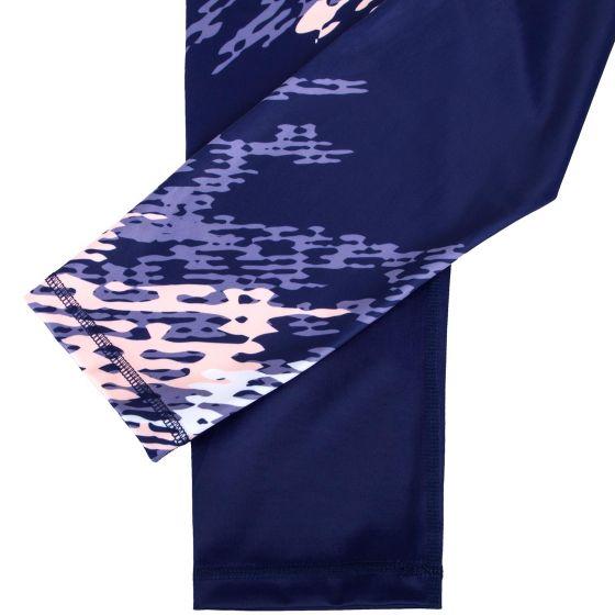 Venum Neo Camo Cropped Leggings - Navy Blue/Coral
