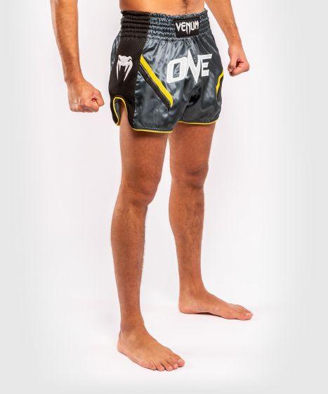 Venum ONE FC Impact Muay Thai Shorts - Grey/Black