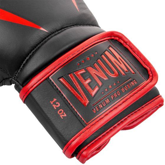 Боксерские перчатки Venum Giant 2.0 Pro - С липучкой - Черный/Красный - Black/Red