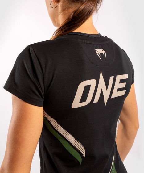 Venum ONE FC Impact T-shirt - for women - Black/Khaki