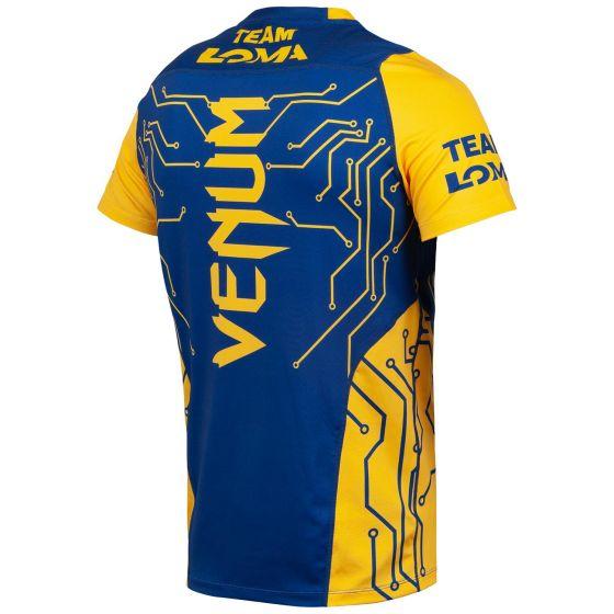 베넘 로마 파이트 드라이 테크 티셔츠 - 블루/옐로우