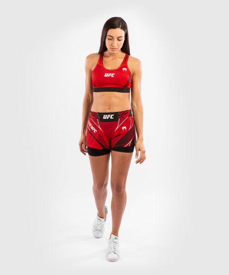 UFC 베넘 어쎈틱 파이트 나이트 여성 스포츠 브라 - 빨간