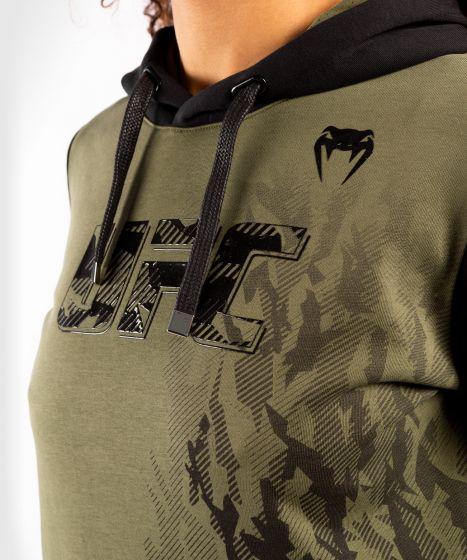 UFC Venum Authentic Fight Week Women's Pullover Hoodie - Khaki