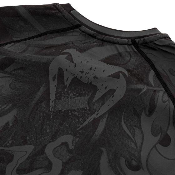 Venum Devil Rashguard - Short Sleeves - Black/Black
