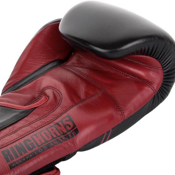 Ringhorns Destroyer Boxing Gloves - Leather - Black/Red