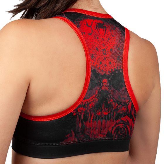 Venum Santa Muerte 3.0 Sport Bras - For Women - Black/Red