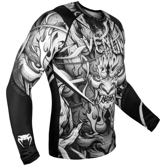 Venum Devil Rashguard - Long Sleeves - White/Black