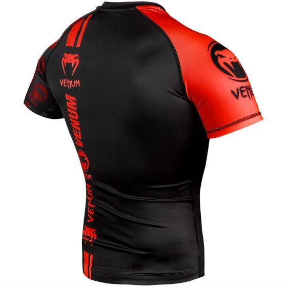 Venum Logos Rashguard - Short Sleeves - Black/Red