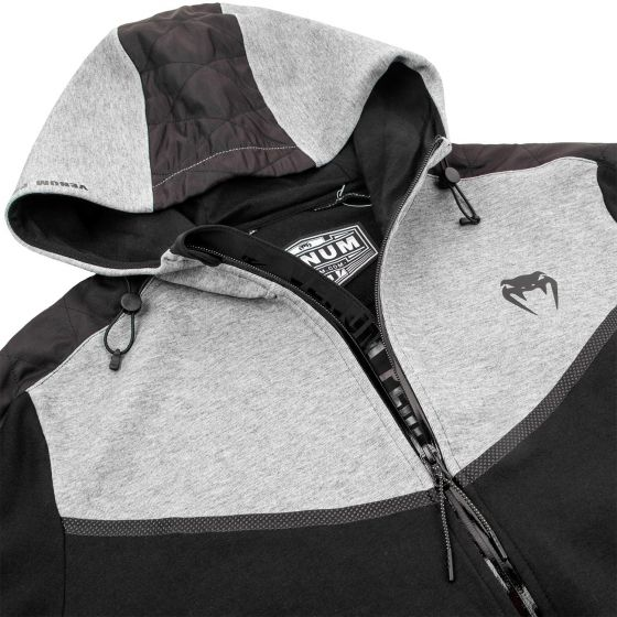 Venum Laser Evo Hoodie - Black/Heather Grey