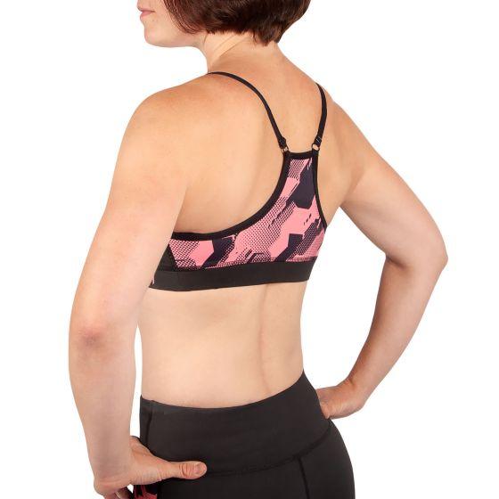 Venum Tecmo Sport Bra - For Women - Black/Pink