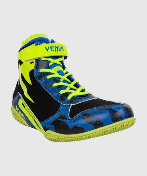 Боксерки Venum Giant Low Loma Edition - Синий/Желтый