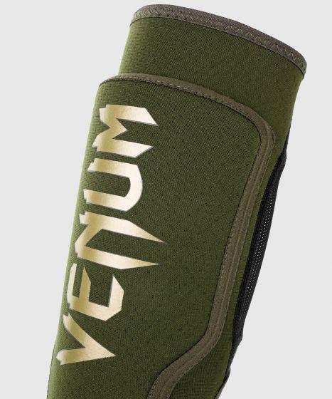 Venum Kontact Evo Shin Guards - Khaki/Gold