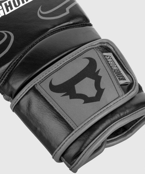 Ringhorns Destroyer Boxing Gloves - Leather - Black/Grey