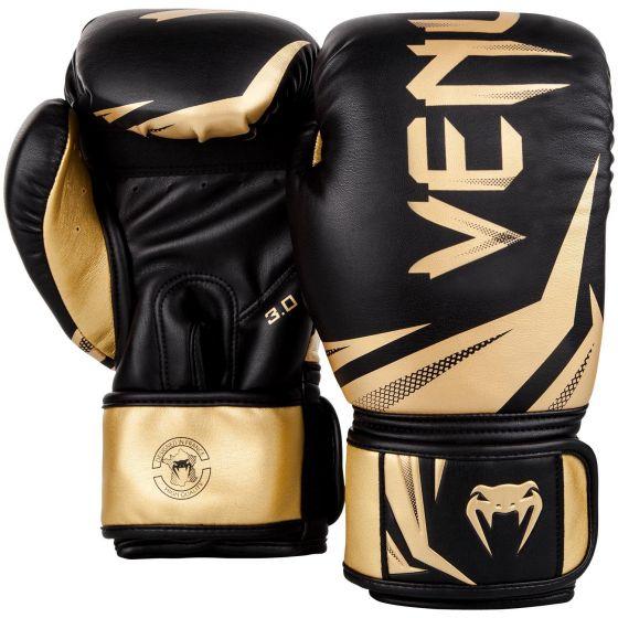 Боксерские перчатки Venum Challenger 3.0 - Черный/Золотой