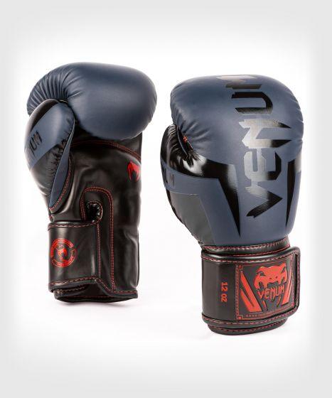 Venum Elite Boxing Gloves - Navy Blue/Black-Red
