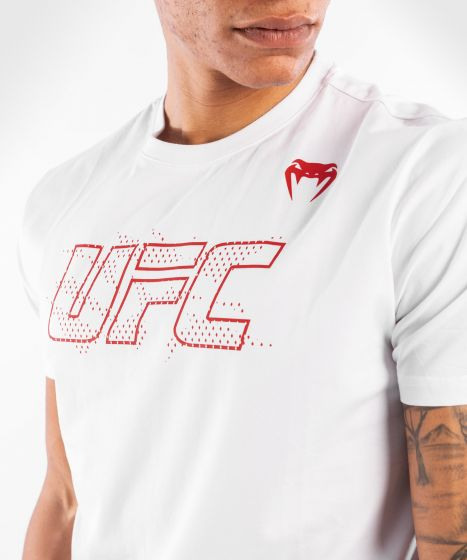 МУЖСКАЯ ХЛОПКОВАЯ ФУТБОЛКА С КОРОТКИМ РУКАВОМ UFC VENUM FIGHT WEEK - Белый