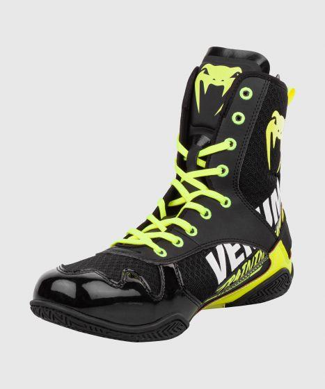 Venum Elite VTC 2 Edition Boxing Shoes - Black/Neo Yellow