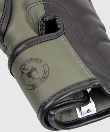 Venum Elite Boxing Gloves - Khaki/Black
