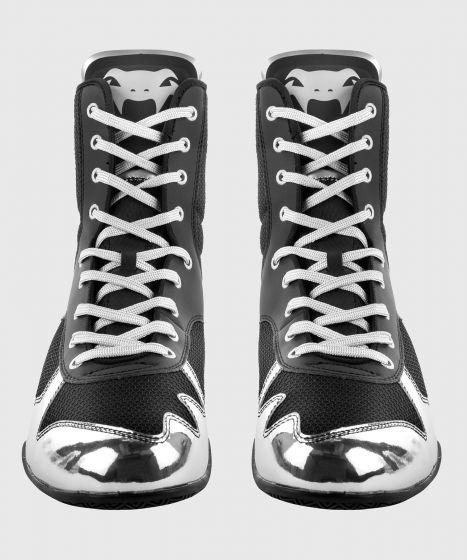 Боксерки Elite Venum Elite - чёрный/серебристый