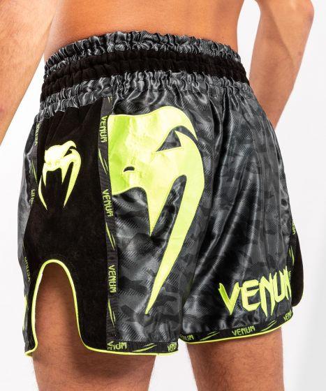Venum Giant Camo Muay Thai Shorts - Black/Yellow