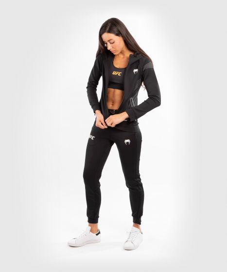 UFC Venum Authentic Fight Night Women's Walkout Hoodie - Black