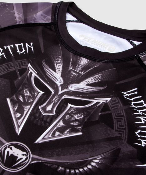 Venum Gladiator 3.0 Rashguard - Long Sleeves - Black/White
