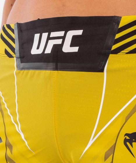 UFC 베넘 어쎈틱 파이트 나이트 여성 쇼츠 - 롱 핏 - 노랑