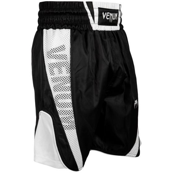 Venum Elite Boxing Shorts - Black/White