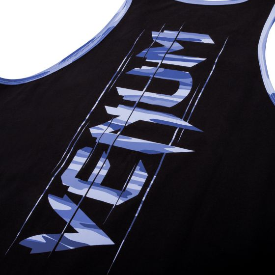 Venum Wave Camo Tank Top - Black/Blue