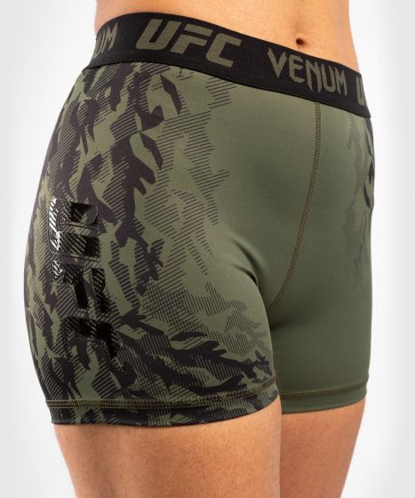 UFC Venum Authentic Fight Week Women's Performance Vale Tudo Shorts - Khaki