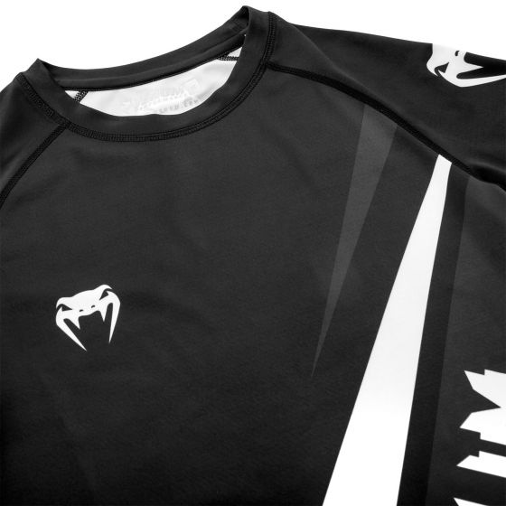Venum Contender 4.0 Rashguard - Long Sleeves - Black/Grey-White