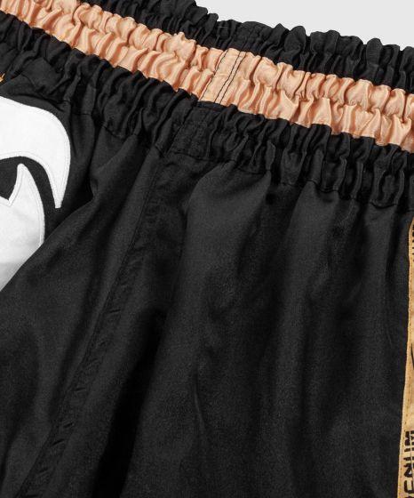 Venum Giant Muay Thai Shorts - Black/White/Gold