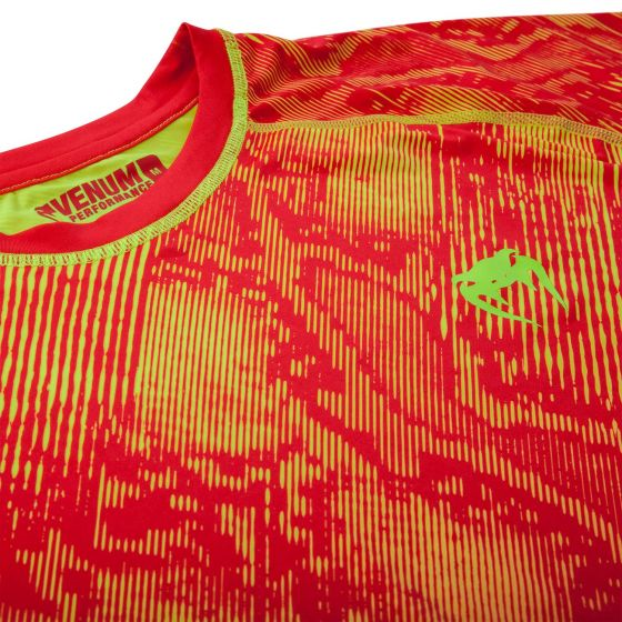 Venum Fusion Compression T-shirt - Short Sleeves - Orange/Yellow