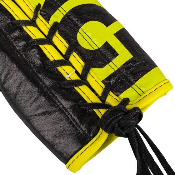 Боксерские перчатки Venum Hammer Pro Loma Edition — со шнурками — синий/желтый