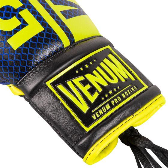 Боксерские перчатки Venum Shield Pro Loma Edition — со шнурками — синий/желтый